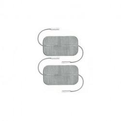 Globus - 2 Elettrodi Myotrode PLATINUM 50X100 Doppio cavetto